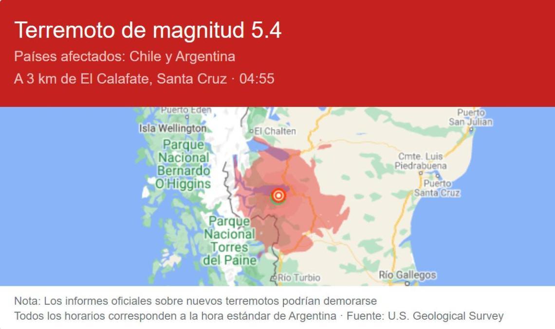 terremoto Calafate
