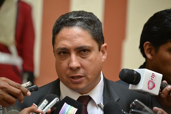 El Ministro de Justicia, Héctor Arce