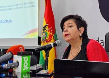 Teresa Morales, directora de la Unidad de Investigación Financiera (UIF). Crédito foto: La Razón