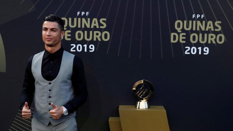 El futbolista Cristiano Ronaldo en la gala Quinas de Ouro en Lisboa, Portugal, el 2 de septiembre de 2019/ Reuters