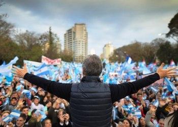 Acto de campaña de Mauricio Macri, en Paraná