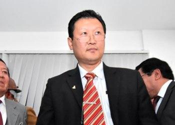 LA PAZ-16-08-19- Chi Hyun Chung, boliviano de origen coreano que debía ser presentado como candidato a la Presidencia por el Partido Poder Demócrata Cristiano (PDC), pero que no lo fue por la ausencia del titular de ese frente, Luis Ayllón.