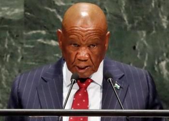 Thomas Motsoahae Thabane, el Primer Ministro de Lesoto, está siendo investigado por el asesinato de su ex esposa. / REUTERS