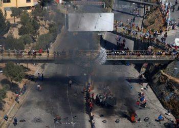 Bloqueos y movilizaciones durante la pandemia por COVID-19 en La Paz. Foto: TVE
