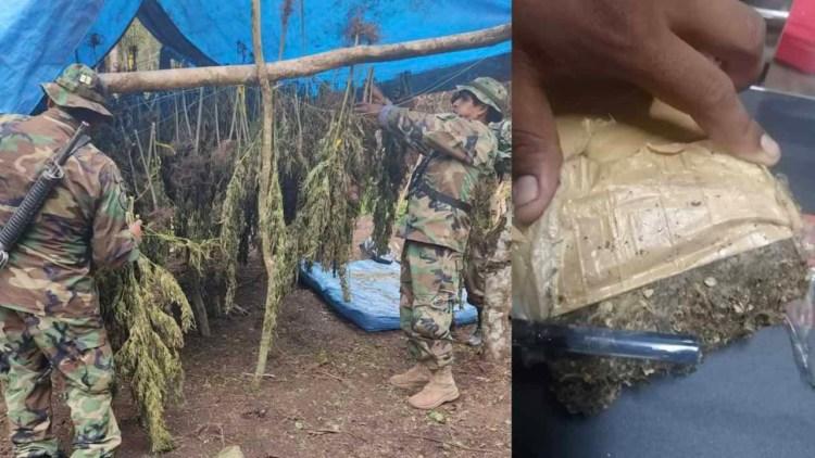 Efectivos antinarcóticos durante los operativos en Tarija. FELCN-BOLIVIA