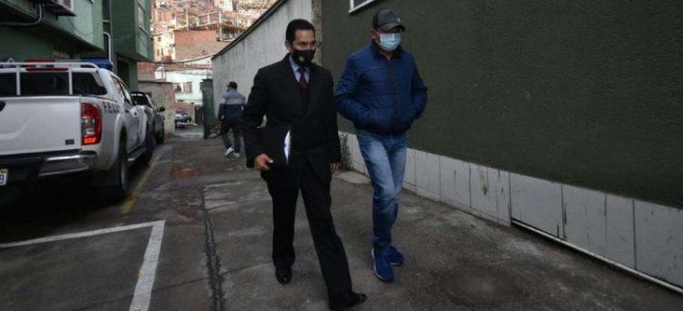 El capitán Ivar Víctor Gómez Apaza se convirtió en el tercer aprehendido dentro el caso Murillo . Foto : APG Noticias