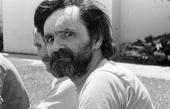 American criminal Charles Manson, the man who murdered Sharon Tate, at California Medical Facility, Vacaville, Solano County, California, US, August 1980. (Photo by Albert Foster/Mirrorpix/Getty Images)