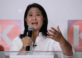 Candidata a la presidencia de Perú, Keiko Fujimori