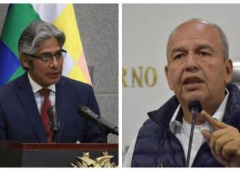 El procurador General del Estado, Wilfredo Chávez y el exministro de Arturo Murillo