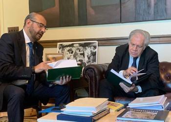 Rómulo Calvo y Luis Almagro. FOTO: Comité Cívico Pro Santa Cruz