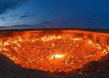 """Cráter de Darvaza, """"Puertas del infierno"""" Foto: GETTY IMAGES"""