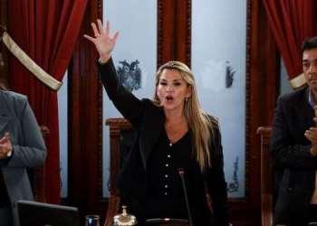 Sesión en la que Añez asumió la presidencia