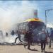 Uno de los buses PumaKataris atacado en Hayllani, en 2019