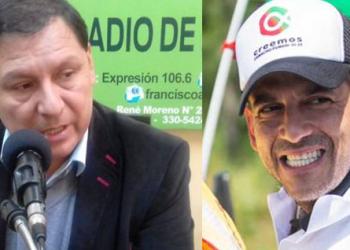 El director del INRA, Eulogio Núñez y el Gobernador de Santa Cruz, Fernando Camacho.
