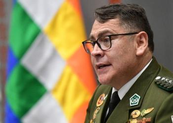 El comandante nacional de la Policía Boliviana, Jhonny Aguilera