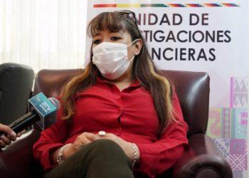 La directora ejecutiva de la Unidad de Investigaciones Financieras (UIF), Ana María Morales