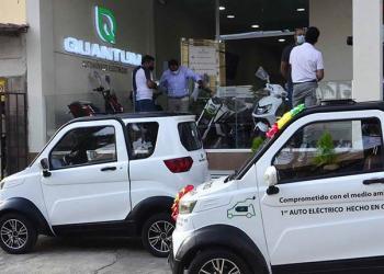Vehículos eléctricos de la empresa cochabambina Quantum Motors.   Hernán Andia