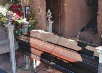 Don Ciprian es velado en su domicilio en Potolo. Foto: Pedro Silva
