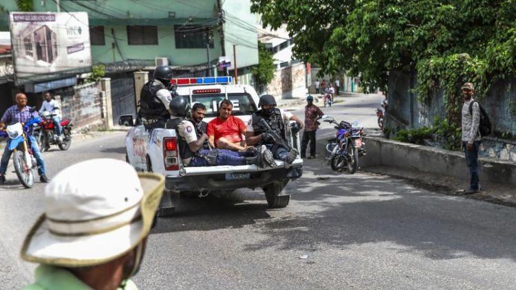Los operativos para dar con los involucrados en el magnicidio de Jovenel Moise, este jueves en Haití. / Foto: AFP.