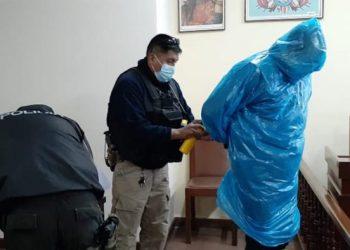 El sospechoso fue detenido después de una audiencia en el Tribunal Departamental de Justicia. (TDJ)
