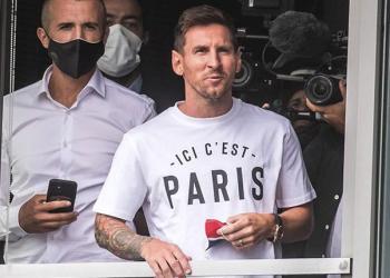 Lionel Messi en París.