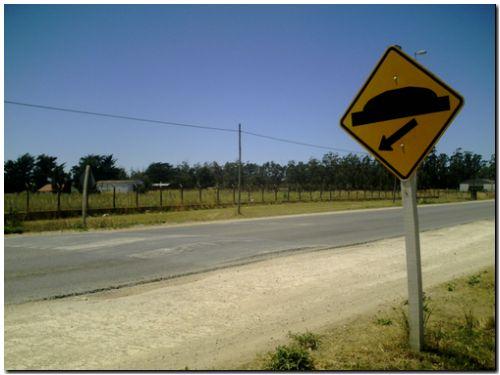 NECOCHEA: Señales mal ubicadas pueden provocar graves accidentes.