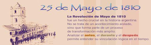 25 de mayo de 1810 – Revolución de Mayo