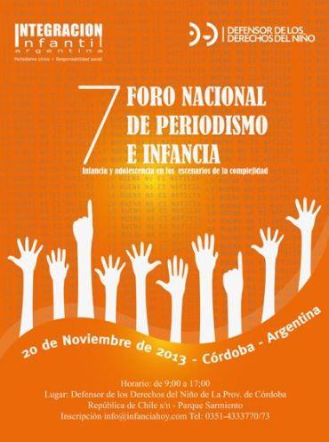 ENCUENTRO: Córdoba será sede del 7º Foro Nacional de Periodismo e Infancia.