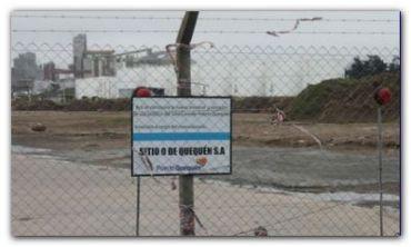 PUERTO QUEQUÉN: Detuvieron las obras de ampliación del Giro 0