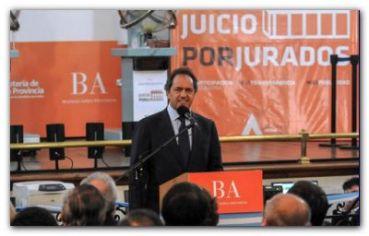 """JUSTICIA: Scioli destacó Juicios por Jurados como """"un hecho histórico para nuestra democracia"""""""