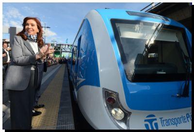 TRENES: «Es un salto cualitativo sin precedentes», afirmó la Presidenta al poner en funcionamiento las nuevas formaciones del Ferrocarril Sarmiento
