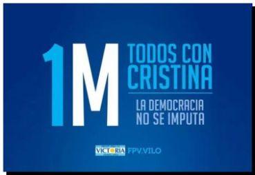POLÍTICA: Convocatoria para acompañar a Cristina