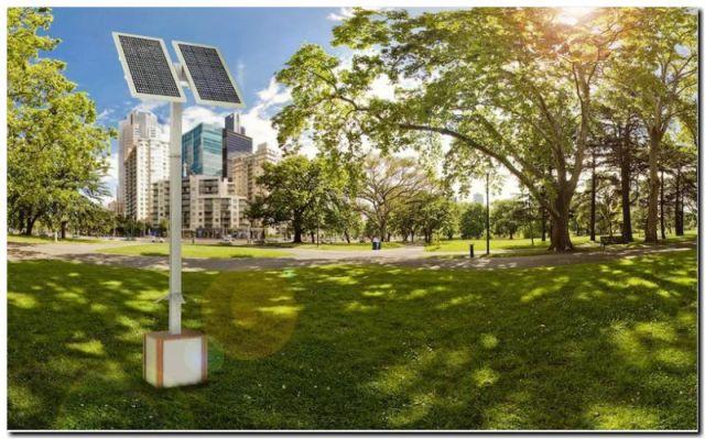 MAR DEL PLATA: Estaciones solares para recarga de celulares