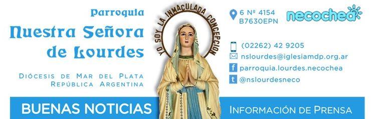 NECOCHEA: Inscripción para Catequesis en Lourdes