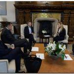 GOBIERNO: El Presidente Macri recibió en la Casa Rosada a Lilian Tintori