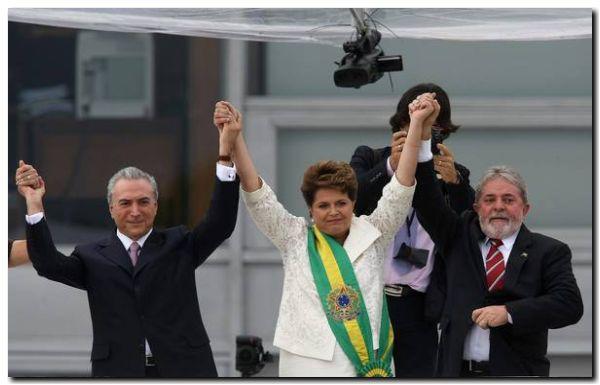 BRASIL: Están todos salpicados, Temer, Lula y Dilma