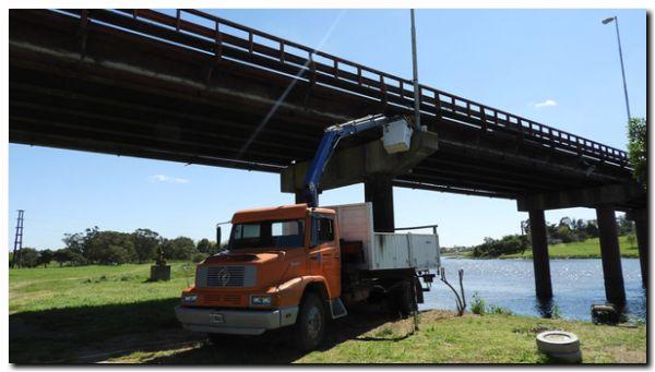 NECOCHEA: Se colocaron válvulas en los extremos del Puente Dardo Rocha