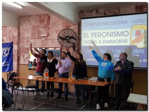 ELECCIONES 2017: Exitoso almuerzo peronista en la católica de Necochea