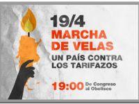 SOCIEDAD: Marcha de velas, un país contra los tarifazos