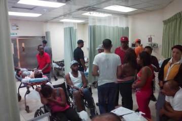 887 emergencias en cuatro hospitales del Gran Santo Domingo