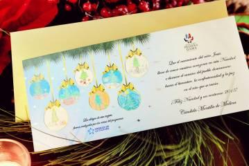 """""""Angeles de la Cultura"""" crean tarjetas de Navidad de la Primera Dama"""