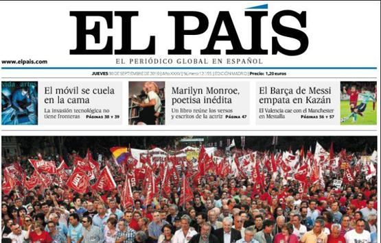 """Desalojan periódico El País de España por la presencia de un """"paquete sospechoso"""""""