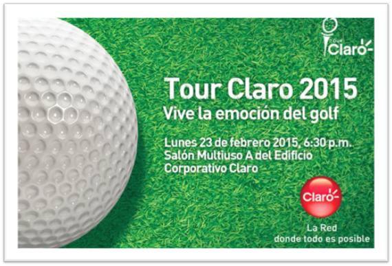 Tour Claro 2015  ¡ Vive la emoción del golf !