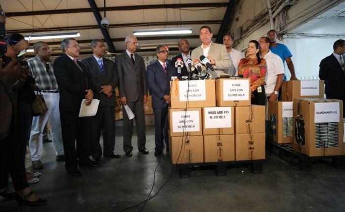 La JCE entrega materiales al PRM para su convención