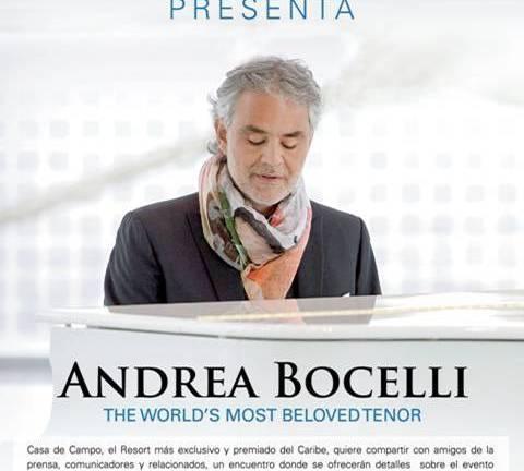 Andrea Bocelli estará muy pronto en Casa de Campo