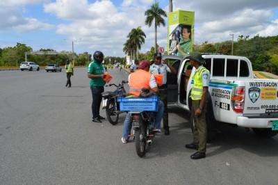 La AMET retiene 150 motocicletas por violar las normas en Semana Santa