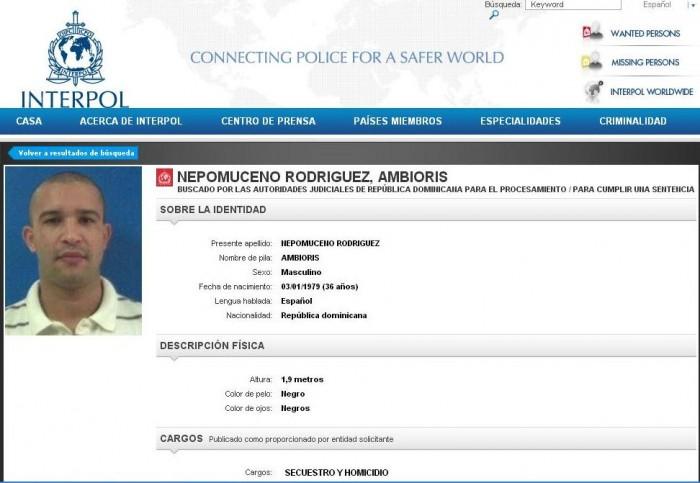 El presunto asesino de Paola Languasco engrosa la lista de los más buscados por la Interpol