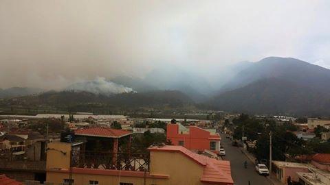 Las altas temperaturas  y los fuertes vientos impiden sofocar incendio en Dajabón