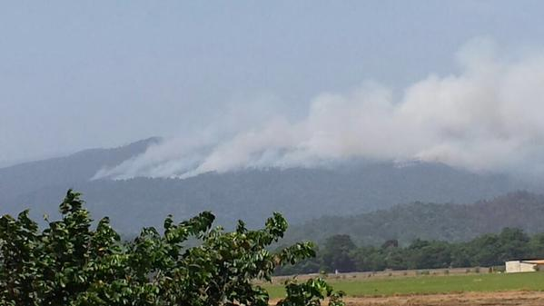 Usuarios de redes sociales solicitan un avión cisterna para sofocar fuego en Loma Mirana