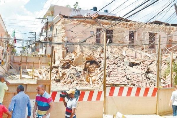 Residentes de la Zona Colonial temerosos de que ocurran más derrumbes